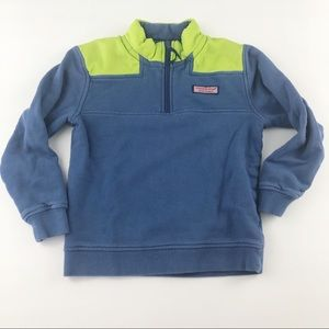 Size 7 VINEYARD VINES blue and green shep shirt